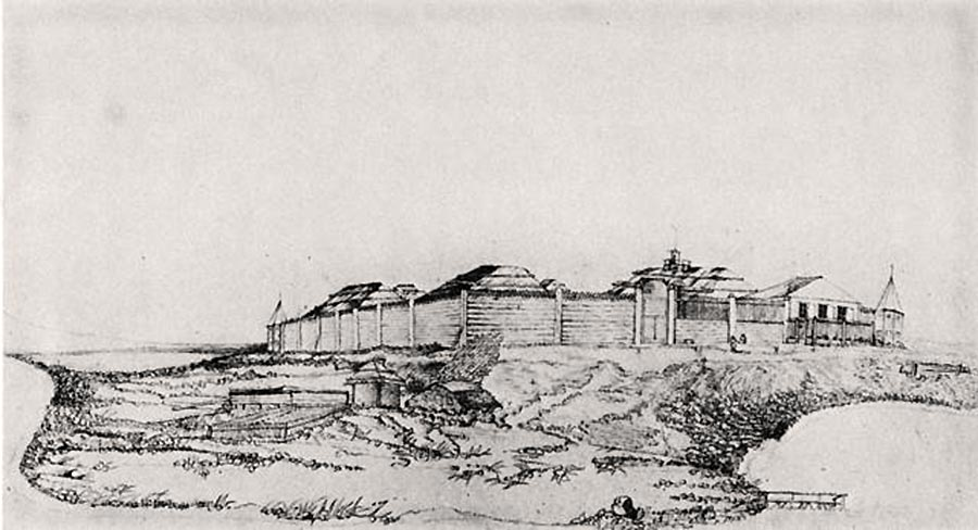 A drawing of Fort Saint Michael